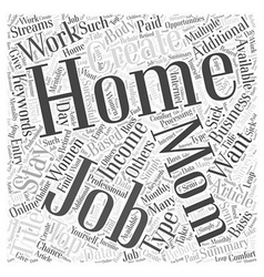 Top At Home Moms Jobs Word Cloud Concept vector