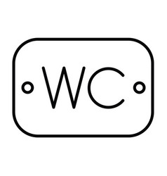 wc or toilet sign board icon with outline and vector image