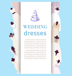 wedding dresses shop poster bridal fashion dress vector image