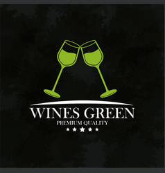 wines green premium quality emblem vector image