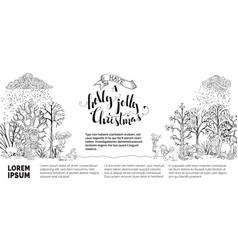 woodland christmas background vector image