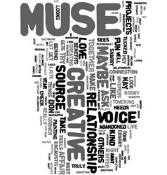 Your love affair with your muse text word cloud vector