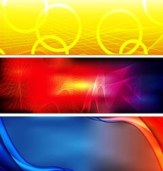 Abstract background banner02 vector image