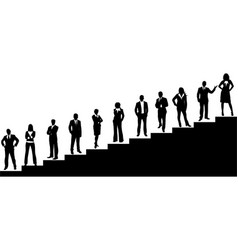 business team with stairs vector image