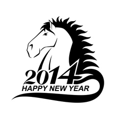 Horse profile is a symbol of 2014 vector image vector image