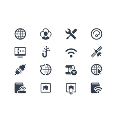 Internet and provider icons vector image vector image