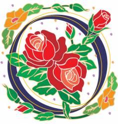 rosette letter O vector image