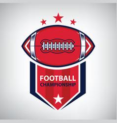 sport american football logo american style vector image