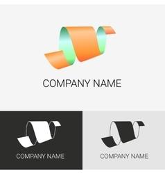 Abstract logo ribbon sign vector image vector image