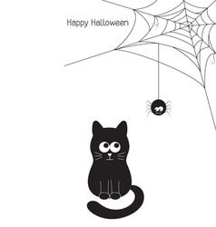 Cat and spider vector image