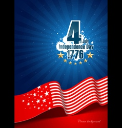 independence day poster background vector image vector image
