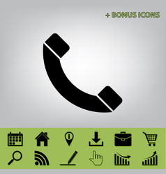 phone sign black icon at vector image vector image