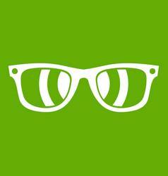 sunglasses icon green vector image vector image