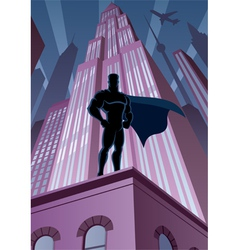 superhero in city vector image