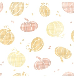 Thanksgiving pumpkins textile seamless pattern vector image