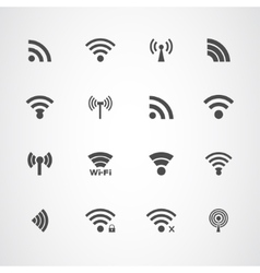 Wi Fi icons set vector image