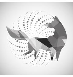 Animal design mosaic icon isolated vector