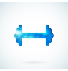 Blue barbell background vector image