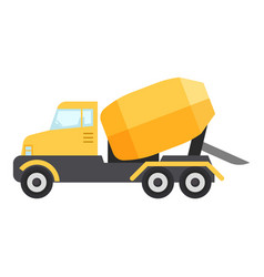 concrete mixer truck icon flat style vector image vector image