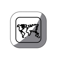 figure map earth planet icon vector image vector image