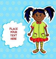 Little black girl card vector image vector image
