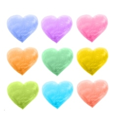 set of hearts different color vector image vector image