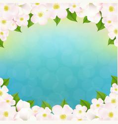 spring apple tree flowers border vector image