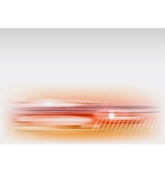 abstract shape red vector image vector image