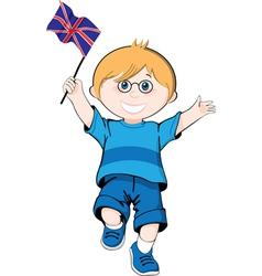 British boy vector image vector image