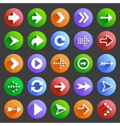 Flat arrow icons 4 vector image