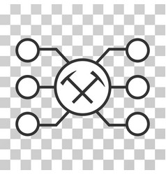 Hammers pool nodes icon vector