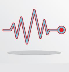 Heart beat cardiogram vector image vector image