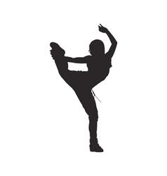 Hip hop dancer silhouette woman vector