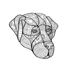 labrador retriever mandala vector image vector image