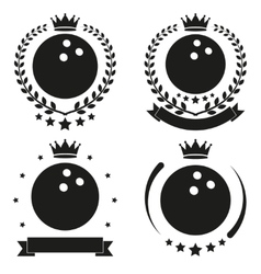 Set of Vintage Bowling Club Badge and Label vector image vector image