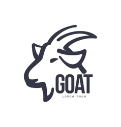 Side view goat head logo for meat and dairy vector image vector image