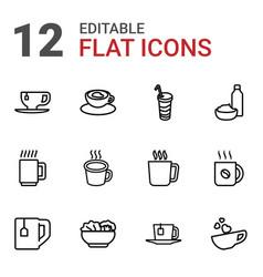 12 tea icons vector