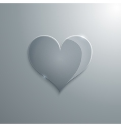 a heart glass vector image