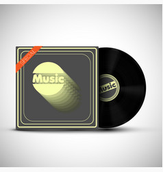 a vinyl with its cover on white background vector image