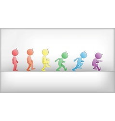 Abstract Humans in Movement vector image