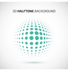 Abstract perspective background with halftone vector image
