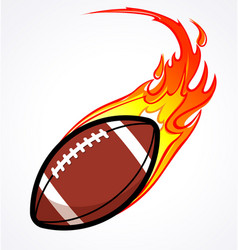 American football gridiron flaming fire fast vector