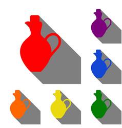 amphora sign set of red orange vector image