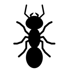 Ant silhouette logo symbol icon sign vector