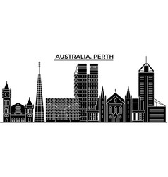 australia perth architecture city skyline vector image