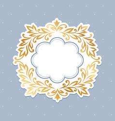 baroque gold frame vector image