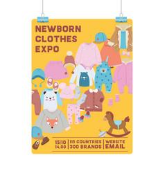 bashop shopping sale cartoon kids clothing vector image