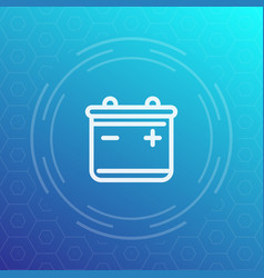 battery icon pictogram in linear style vector image