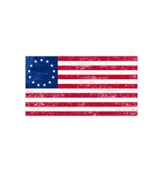 Betsy ross flag victory 1776 independence day vector