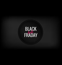 black friday sale promotion banner vector image